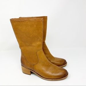 KORK-EASE MERCIA Brown Leather Distressed Boots